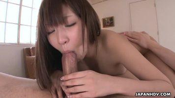 الكلبة الآسيوية مارس الجنس في فمها والمهبل العصير جدا